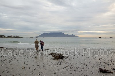 sea,beach,people,table mountain,big bay,table view