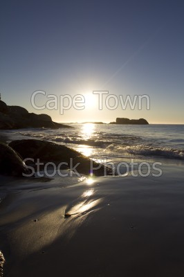 reflection,beach,sunset,clifton