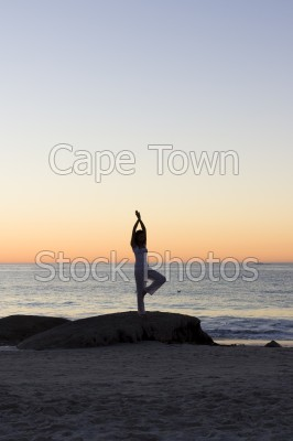 beach,sunset,woman,clifton