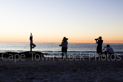 beach,people,sunset,clifton