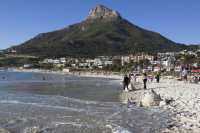 Sand castles at Camps Bay beach [1304125285]