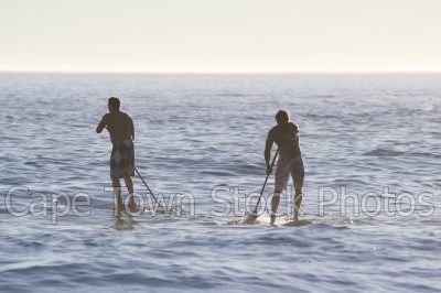 sea,silhouette,camps bay,sup,water sport