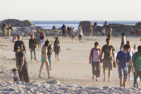 People on Camps Bay beach [1304125371]