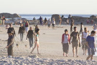 People on Camps Bay beach [1304125372]