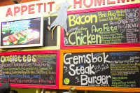 Food signs at Bay Harbour Market [1307076822]