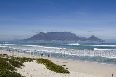 sea,beach,table mountain,table view