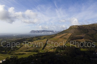 hills,landscape,vineyard,constantia,clouds
