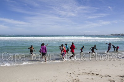 sea,beach,children,camps bay