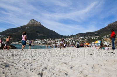 beach,people,lions head,camps bay