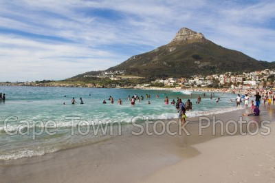 beach,people,lions head,camps bay,swimming