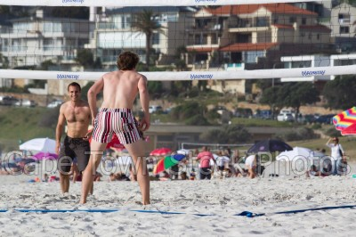 man,beach,people,camps bay,volleyball