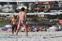 Volleyball on Camps Bay beach [1310277911]