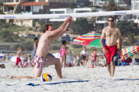 Volleyball on Camps Bay beach [1310277916]