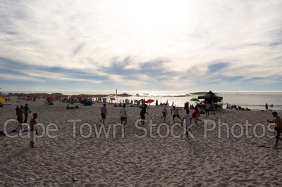sea,beach,people,camps bay,cloudy