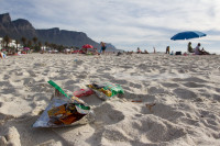 Litter on Camps Bay beach [1310277934]