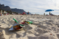 Litter on Camps Bay beach [1310277935]