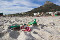 Litter on Camps Bay beach [1310277936]