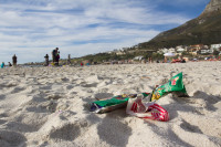 Litter on Camps Bay beach [1310277937]