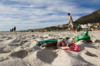 Litter on Camps Bay beach [1310277938]
