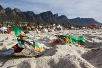 Litter on Camps Bay beach [1310277940]