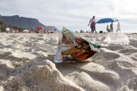 Litter on Camps Bay beach [1310277941]