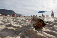 Litter on Camps Bay beach [1310277942]