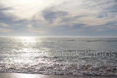 reflection,sea,beach,camps bay,waves,horizon