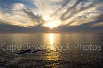 sea,sunset,clifton,camps bay,cloudy