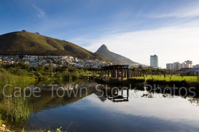 signal hill,reflection,lions head,green point,park
