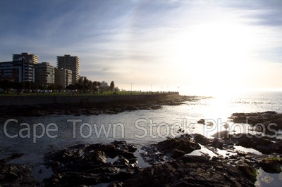 sunset,buildings,sea point,three anchor bay