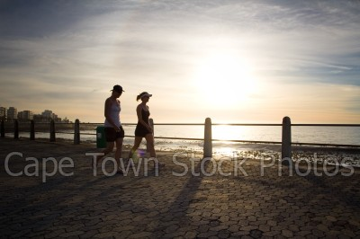 people,sunset,walking,sea point,three anchor bay,promenade