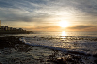 Sunset at Three Anchor Bay in Sea Point [1311018386]