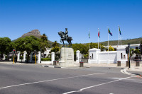 Louis Botha's statue at Cape Town Parliament buildings [1312319738]