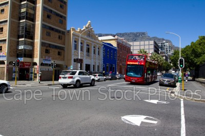 bus,table mountain,streets