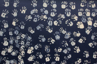 Handprints mural in Observatory [1401080093]