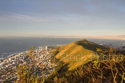 signal hill,sunset,table bay