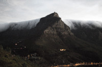 Table Mountain's table cloth at sunset [1401170314]