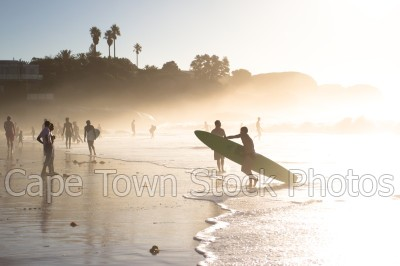 people,sunset,clifton,silhouette,surfing,water sport