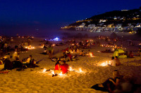 Candles and Light – Valentines day, Clifton 4th Beach [1402140396]