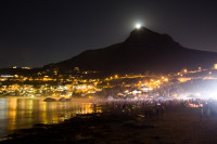 Moon rising over Lion's Head [1402150492]