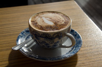 Coffee in old decorative cup [1403080509]
