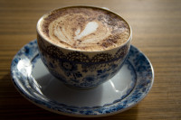 Coffee in old decorative cup [1403080515]