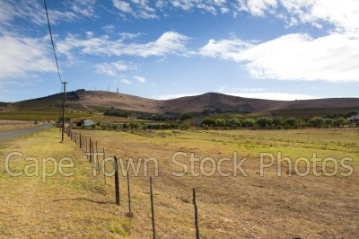 hills,blue sky,countryside,durbanville,cloudy