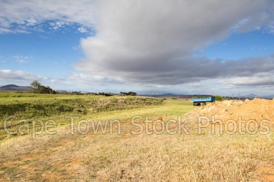 blue sky,farm,durbanville,cloudy,trailer
