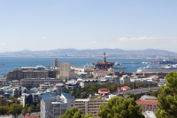 Cape Town Harbour from Signal Hill [1403290876]
