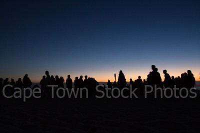 beach,people,silhouette,camps bay,night