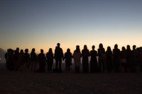 People silhouetted on Camps Bay beach [1503098660]