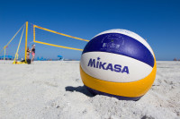 Mikasa volleyball ball on Camps Bay Beach [15031486831]