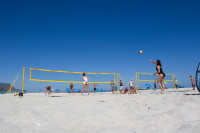 Woman's volleyball on Camps Bay beach [1503148689]