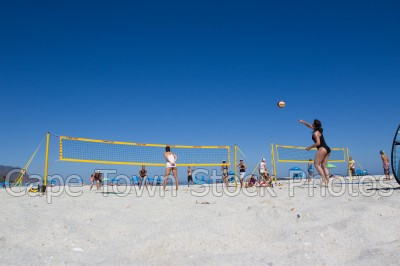 beach,camps bay,volleyball